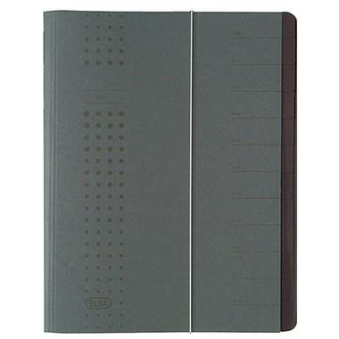 ELBA Ordnungsmappe chic 400001032 DIN A4 12Fächer Karton anthrazit