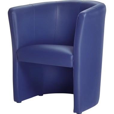 Sessel Kunstleder 690x770x630mm dunkelblau