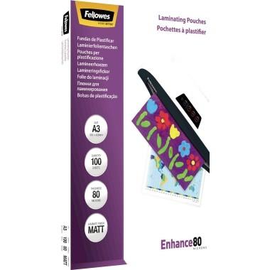 Fellowes Laminierfolie Enhance 80 5452003 DIN A3 tr 100 St./Pack.