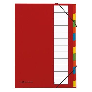 PAGNA Ordnungsmappe Deskorganizer 44133-01 DIN A4 12Fächer rot