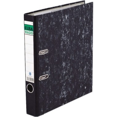 ELBA Ordner ELBArado 100555311 DIN A4 50mm Pappe schwarz