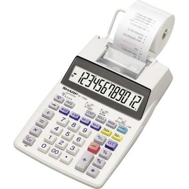 Sharp Tischrechner EL-1750V 12stell r/s Druck optional Netzadapter