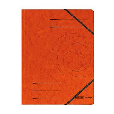 Herlitz Eckspanner 972463 DIN A4 Colorspankarton orange