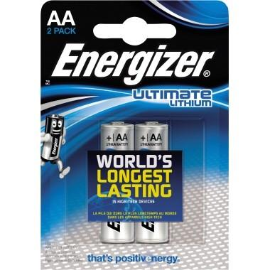 Energizer Batterie Ultimate Lithium 639154 AA Mignon L91 2 St./Pack.