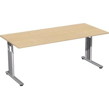 Geramöbel Schreibtisch C-Fuß Flex S-617146-AS 180x80x82cm ahorn/si