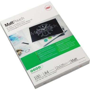 GBC Folientasche MattPouch 3747241 DIN A4 125mic 100 St./Pack.