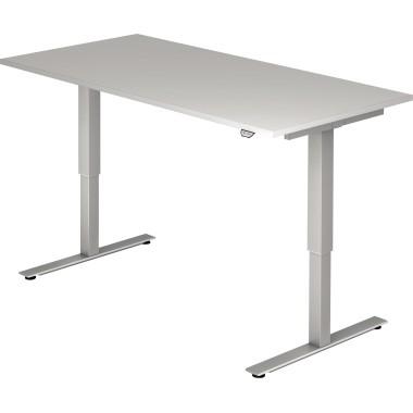Hammerbacher Schreibtisch VXMST16/5/S 160x80cm grau