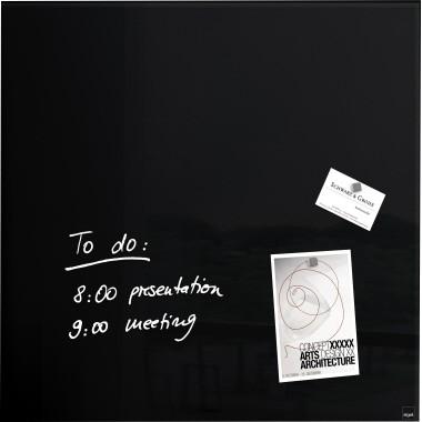 Sigel Magnetboard Artverum GL110 480x480x15mm Glas schwarz