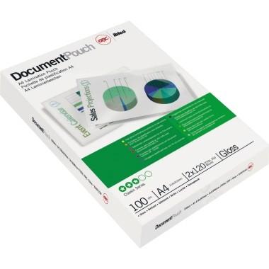 GBC Folientasche DocumentPouch IB585036 DIN A4 100 St./Pack.