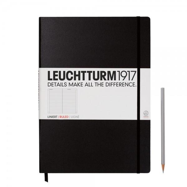 Leuchtturm1917 Notizbuch - Master Classic - Schwarz - liniert