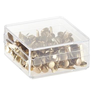 WEDO Musterbeutelklammern Rundkopf Büroklammern 100 Stück Silber