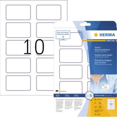 HERMA Namensetikett 4410 80x50mm weiß/blau 200 St./Pack.