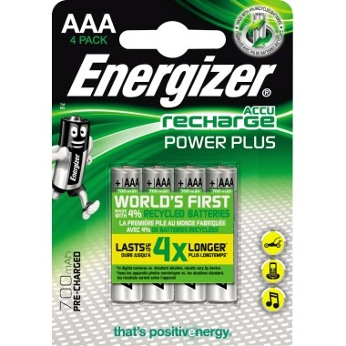 Energizer Akku Recharge PowerPlus E300626600 AAA/HR3 4 St./Pack.