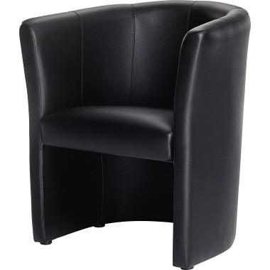 Sessel Echtleder 690x770x630mm schwarz