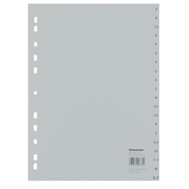 Soennecken Register 1524 DIN A4 A-Z volle Höhe PP grau