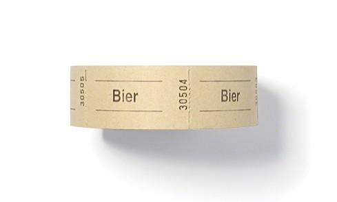 """Wertmarken, Aufdruck """"Bier"""""""