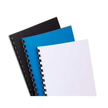 GBC® Einbanddeckel LeatherGrain, DIN A4, Lederstruktur, weiß