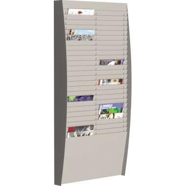 Paperflow Wand-Sortiertafel V 50F A4V2X25.02 DIN A4 grau