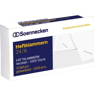 Soennecken Heftklammern 3151 24/6 verzinkt 1.000 St./Pack.