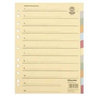 Soennecken Register 1523 blanko 22,5x29,7cm volle Höhe RC farbig