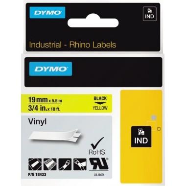 DYMO Schriftbandkassette Rhino ID1 18433 19mmx5,5m sw auf ge