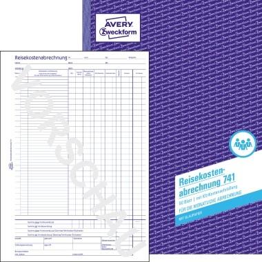 Avery Zweckform Reisekostenabrechnung 741 DIN A4