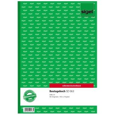 Sigel Bautagebuch SD63 DIN A4 selbstdurchschreibend 3x40Blatt