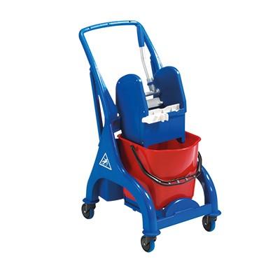 FILMOP Reinigungswagen Orion, blau/rot