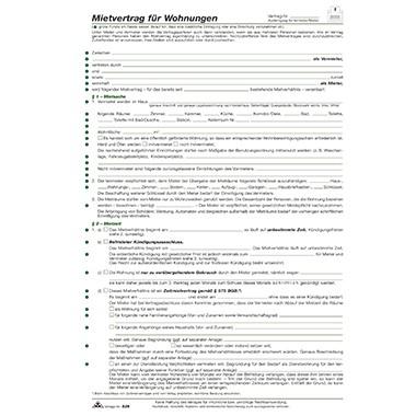 RNK Mietvertrag 525 Wohnung DIN A4 6Blatt