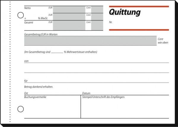Sigel Quittung, DIN A6