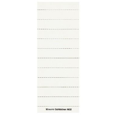 15 mm weiß 3-zeilig 100 Stück 50 x LEITZ Blanko Beschriftungsschildchen H B