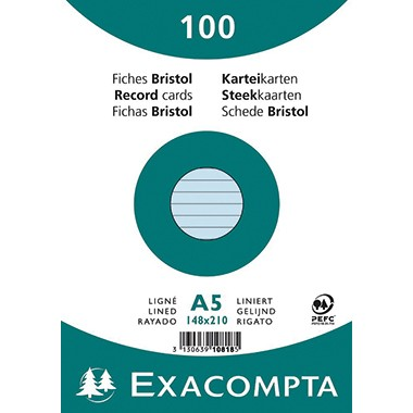 Exacompta Karteikarten A5 blanco 100 Stück