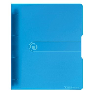 Herlitz Ringbuch 11217148 DIN A4 4Ringe 16mm transparent blau