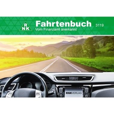 RNK Fahrtenbuch 3119 für PKW DIN A6 quer 32Blatt