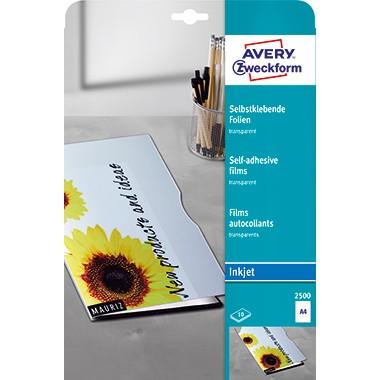Avery Zweckform Inkjetfolie 2500 DIN A4 transparent 10 St./Pack.