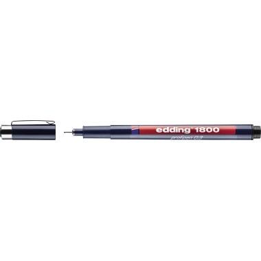 edding Feinschreiber 1800 profipen 4-180001001 0,25mm schwarz