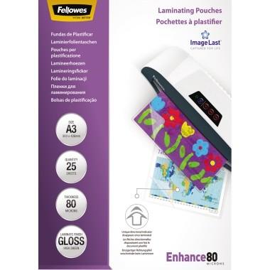 Fellowes Laminierfolie ImageLast 5396403 DIN A3 80my 25 St./Pack.