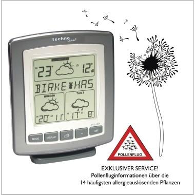 technoline Wetterstation WD 9565 Pollenflugvorhersage